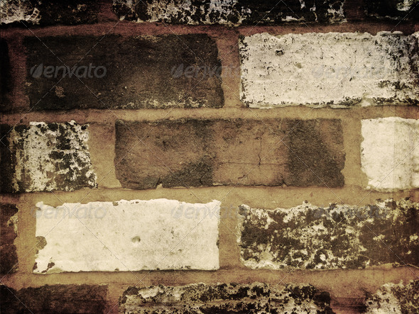 Grunge bricks background 5 - Stock Photo - Images
