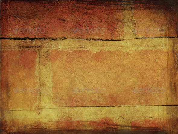 Grunge bricks background 2 - Stock Photo - Images