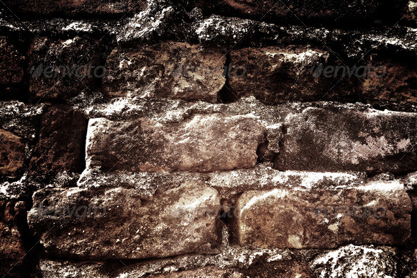Dark grunge bricks background 5 - Stock Photo - Images