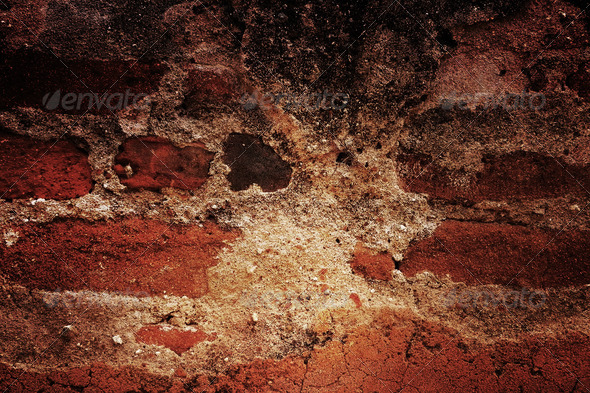 Dark grunge bricks background 4 - Stock Photo - Images