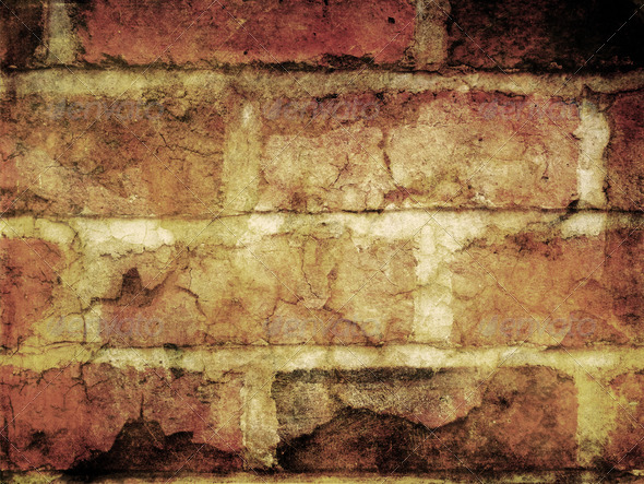 Grunge bricks background 4 - Stock Photo - Images