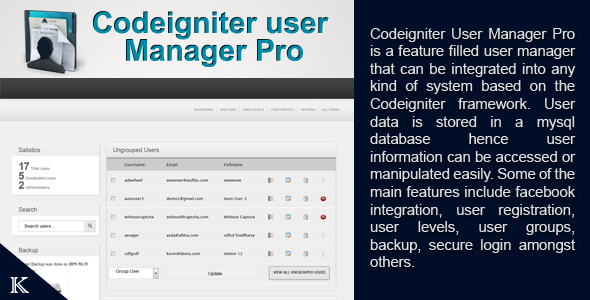 CodeCanyon CodeIgniter User Manager Pro 761129
