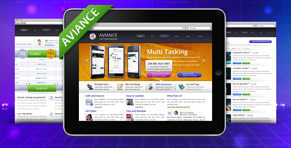 ThemeForest Aviance Creative and Business HTML Template 832139