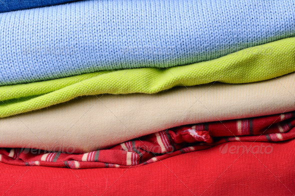 stack of men's clothing - Stock Photo - Images