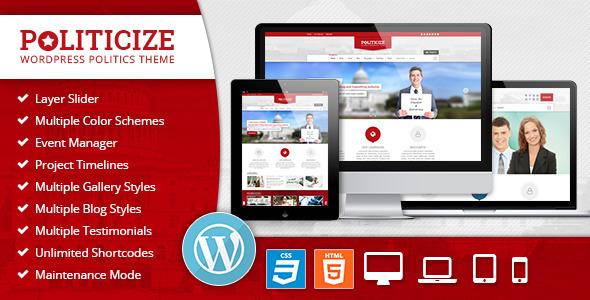 Politicize - Political Responsive WordPress Theme - Political Nonprofit