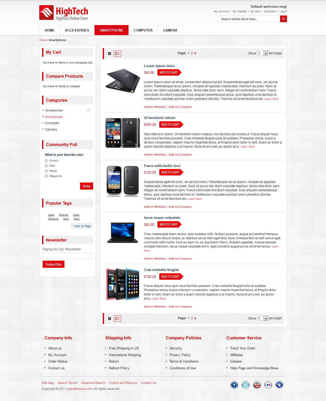 HighTech Magento Theme