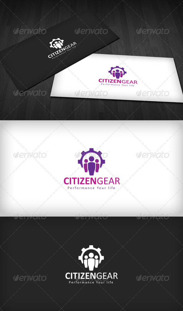 Citizen Gear Logo - Vector Abstract