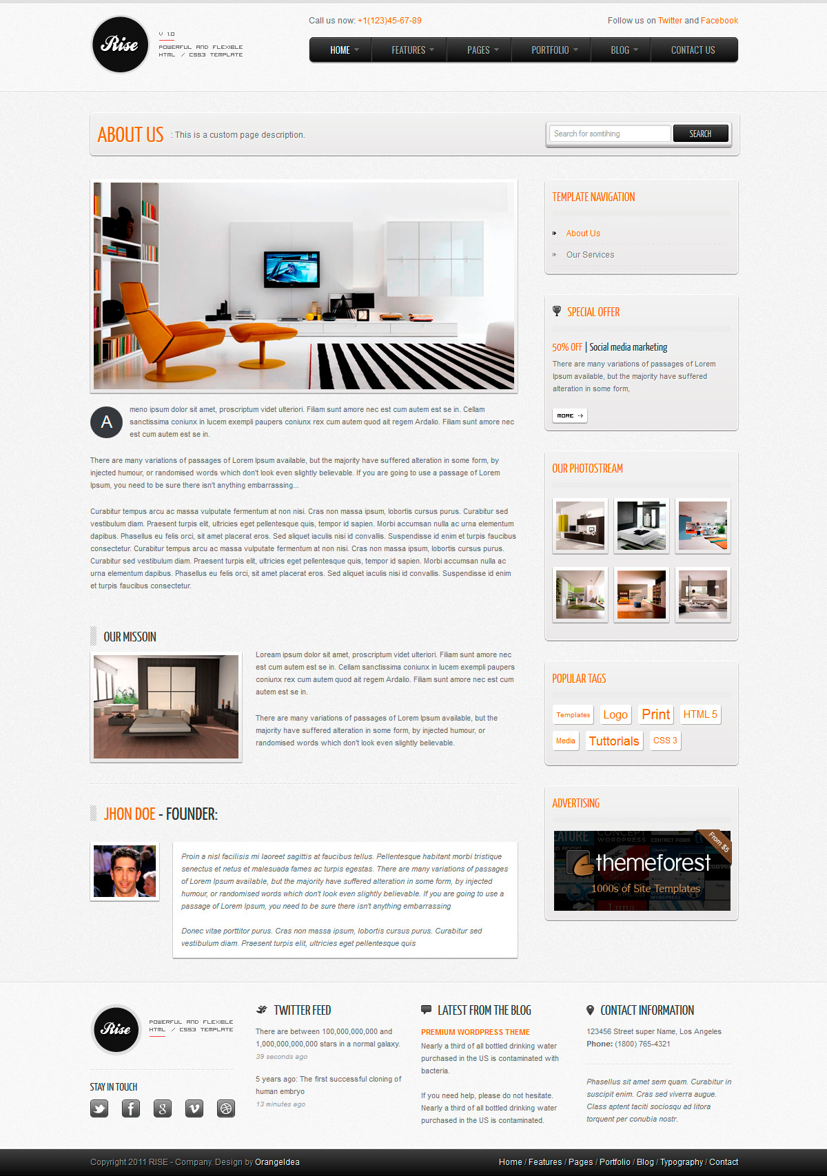 RISE - Premium HTML Template