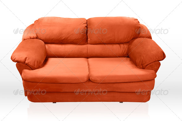 Red sofa  - Stock Photo - Images