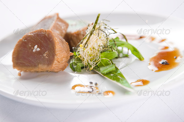 Seared Tuna - Stock Photo - Images