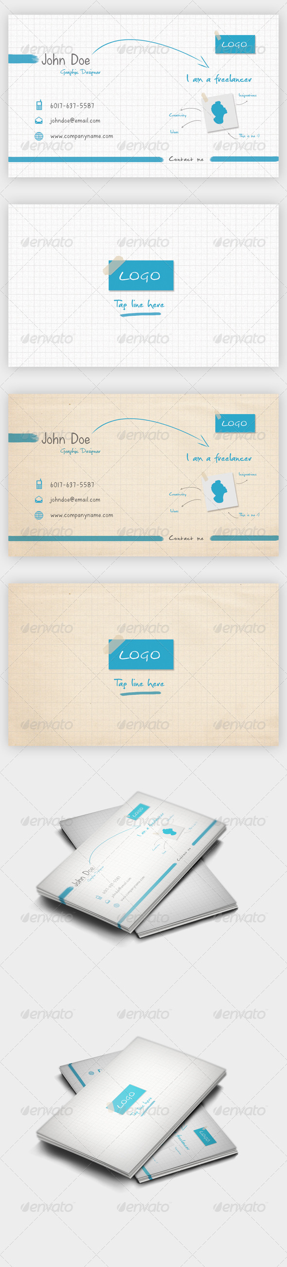 I'm Freelancer Business Card - Creative Business Cards