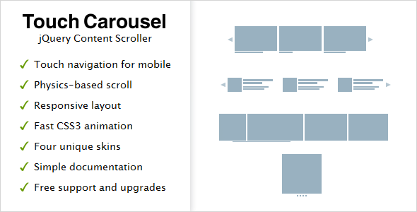 CodeCanyon TouchCarousel jQuery Content Scroller and Slider 896401