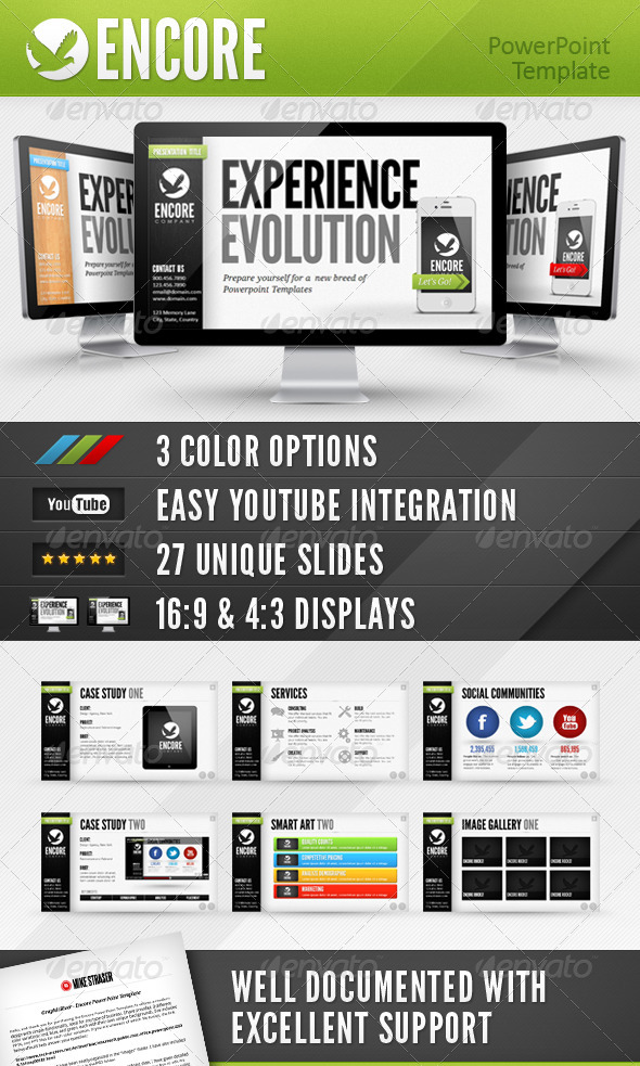 GraphicRiver Encore Powerpoint Template 896447