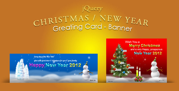 CodeCanyon jQuery Christmas New Year Greeting card & Banner 898463