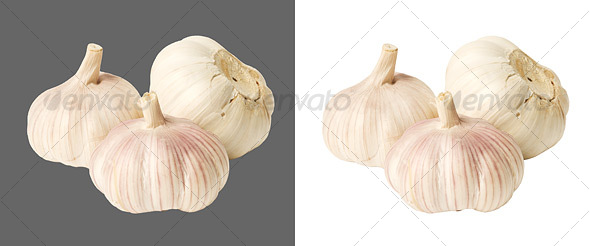 Garlic cloves - Food &amp; Drink Isolated Objects