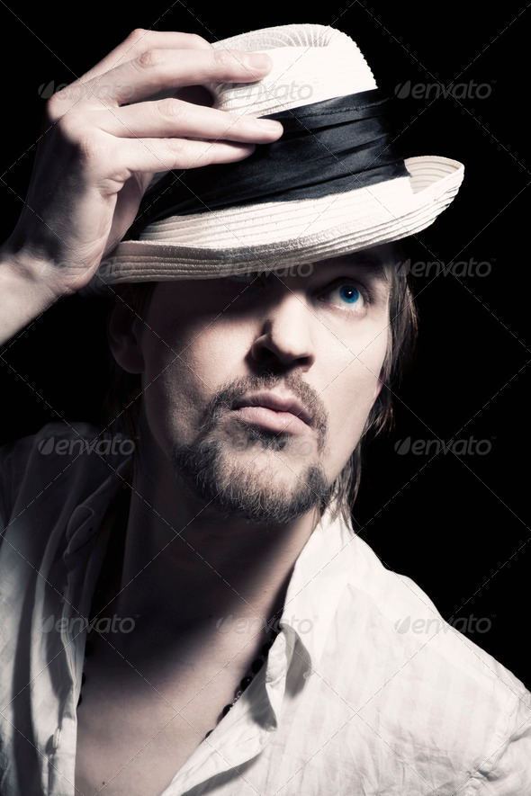 handsome young man - Stock Photo - Images
