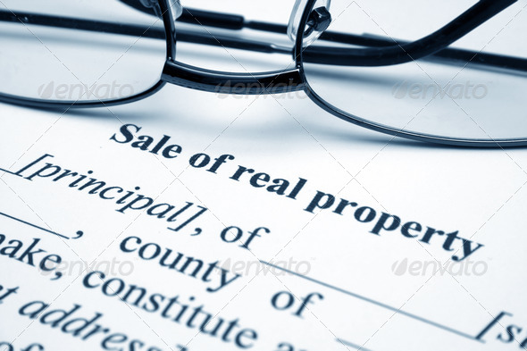 Sale of real property - Stock Photo - Images