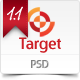 Target – Psd template  Free Download
