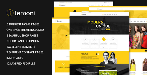 Lemoni - Multipurpose HTML5 Template - Corporate Site Templates