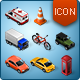 Isometric Map Icons - Cars -Graphicriver中文最全的素材分享平台