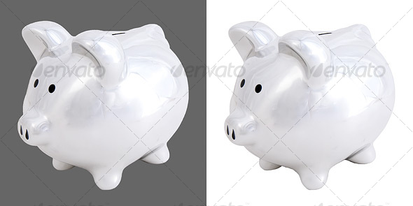 GraphicRiver Chrome Piggy Bank 37222