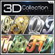 3D Collection Text Effects -Graphicriver中文最全的素材分享平台