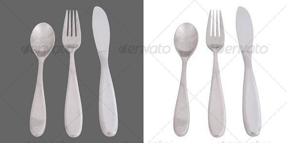 GraphicRiver Cutlery Fork Knife Spoon 37348