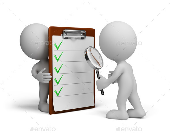 3d person and checklist stock photo by alexmas photodune