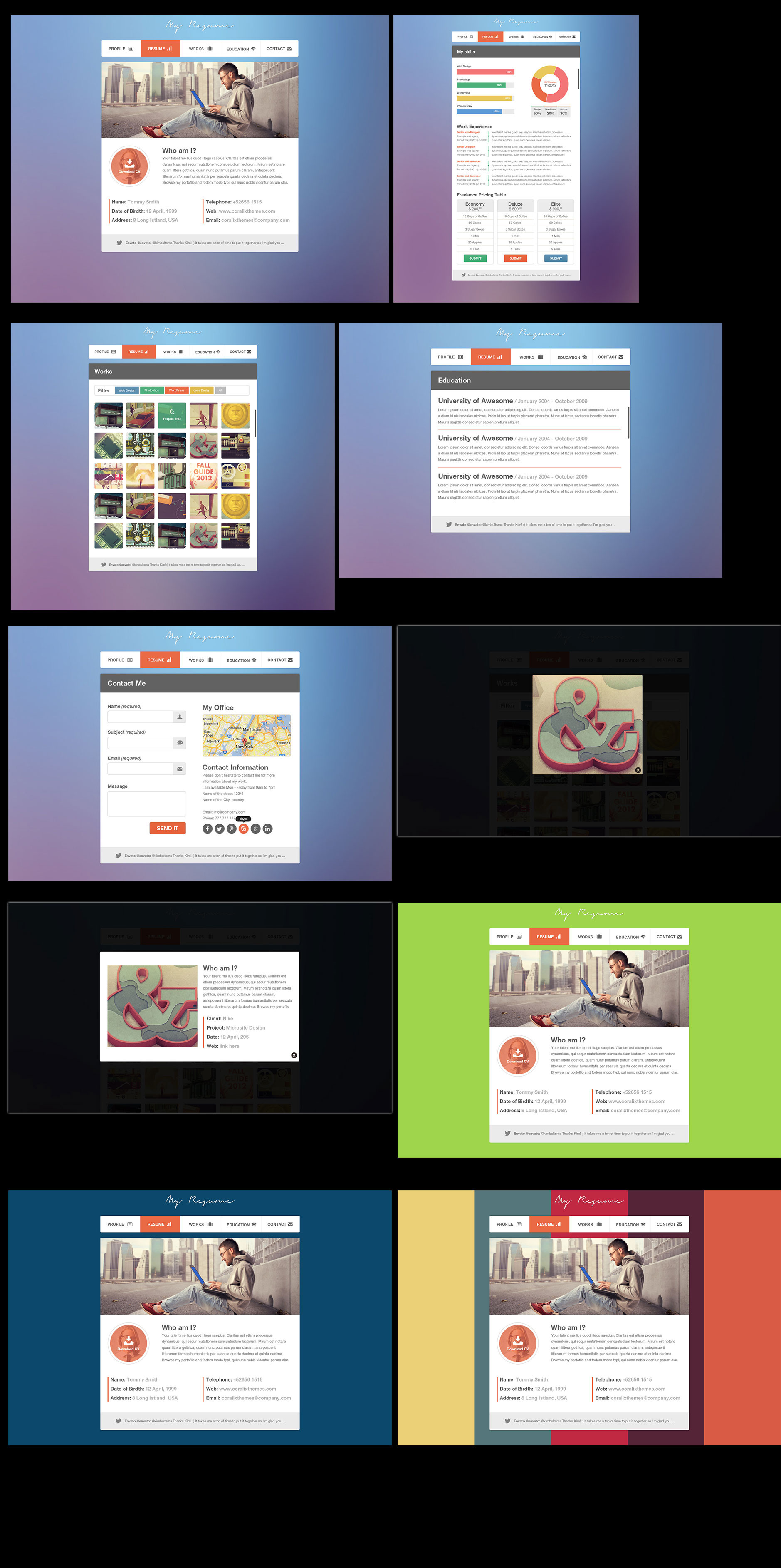 resume portfolio template resume portfolio template 2838