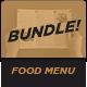 Food Menu Bundle 10 餐厅菜-Graphicriver中文最全的素材分享平台