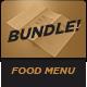Food Menu Bundle 11 餐单三-Graphicriver中文最全的素材分享平台