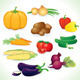 Vector Clip Art of Vegetables - GraphicRiver Item for Sale