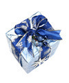 Blue Christmas Gift Box with Ribbon and Ornament - PhotoDune Item for Sale
