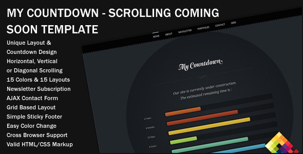 MyCountdown - Scrolling Coming Soon Template - Under Construction Specialty Pages