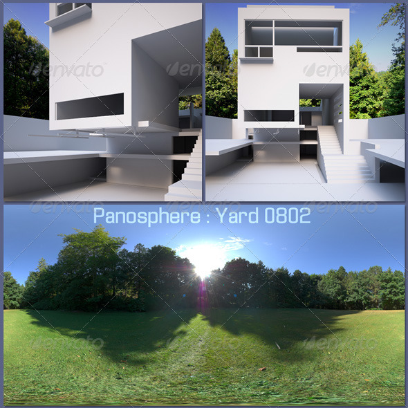 Panosphere HDRI - Yard 0802 - 3DOcean Item for Sale