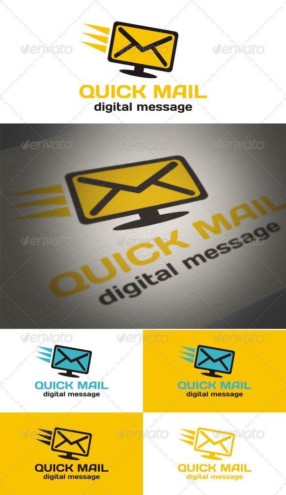 Graphic River Quick Mail Logo Templates -  Objects 888095
