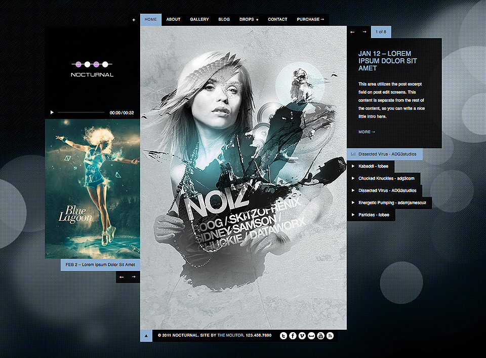 Nocturnal: Premier Audio HTML Theme