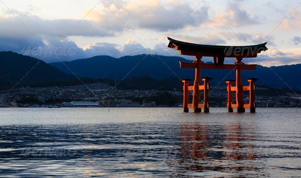 Top 3 Best View of Japan Torii in the Water - Stock Photo - Images