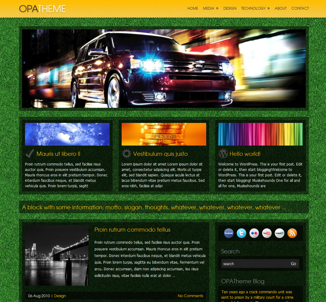 OPAtheme - Sample background 1