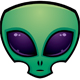 Alien Head Icon - GraphicRiver Item for Sale