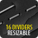 16 Dividers (Horizontal Rul-Graphicriver中文最全的素材分享平台