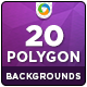 20 Polygon Backgrounds 广告-Graphicriver中文最全的素材分享平台