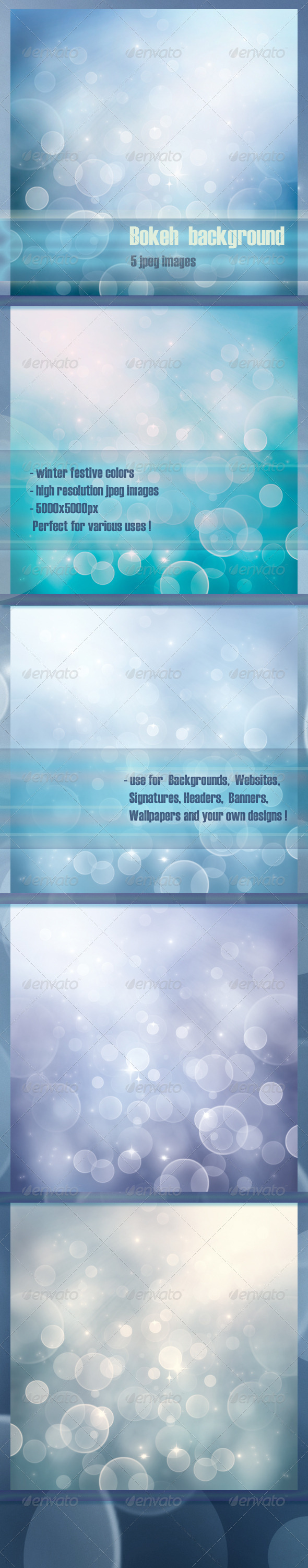 Winter Bokeh Backgrounds - Backgrounds Graphics