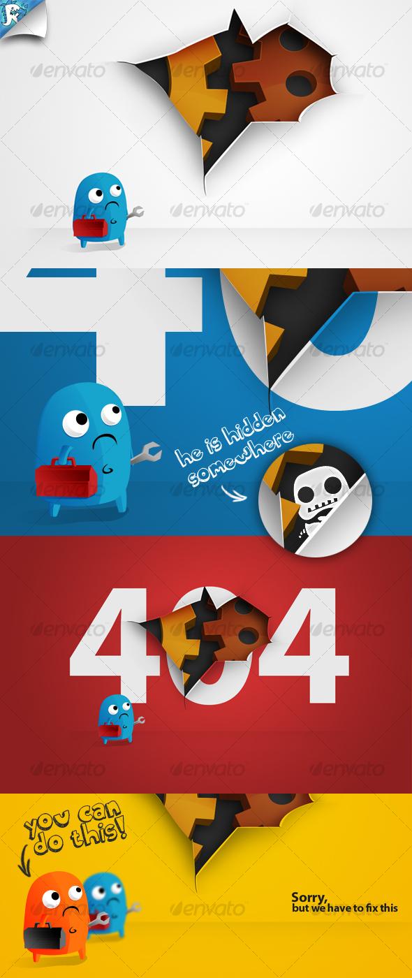 GraphicRiver Under Construction & 404 Hole 117534