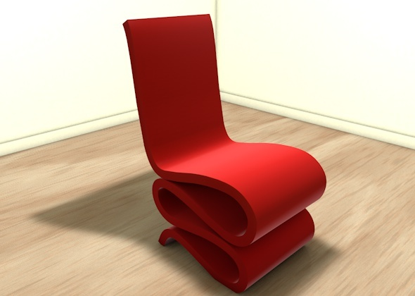 3DOcean Stylish wiggly chair 929429