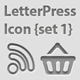 Letterpress Icon {Set 1} - GraphicRiver Item for Sale