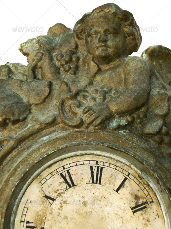 Angel and time - Stock Photo - Images