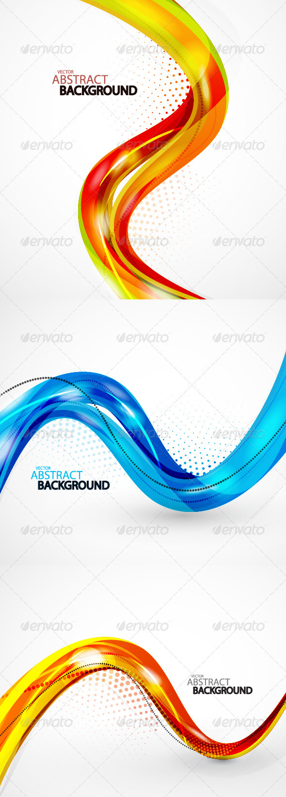 GraphicRiver Pack of abstract backgrounds 930220