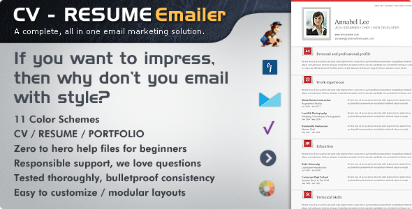 Email Marketer Resume Email Templates Marketing