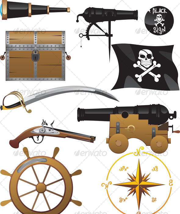 GraphicRiver Pirate set 118116